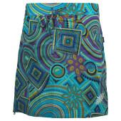 Skhoop summer short skirt aqua pattern