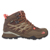 The north face w hedgehog hike mid gtx cub brown fiesta red