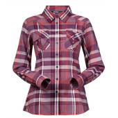 Bergans bjorli lady shirt dusty plum koi orange check
