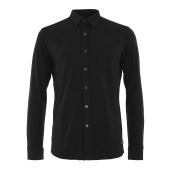 Super natural m button shirt ls caviar