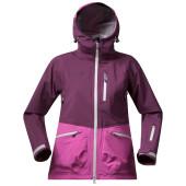 Bergans myrkdalen lady jacket plum pinkrose alu
