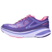 Hoka one one w bondi 4 mulberry purple neon pink