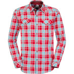 The north face men s l s lodge shirt rage red plaid