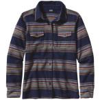 Patagonia women s ls fjord flannel shirt gaucho stripe classic navy
