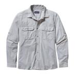 Patagonia men s l s el ray shirt chambray stone