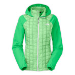 The north face w thermoball hybrid hoodie surreal green surreal green