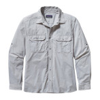 Patagonia men s l s el ray shirt chambray stone