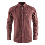 Peak performance gust checked ls shirt red checked