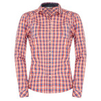 The north face w l s plaid shirt clear lake blue plaid